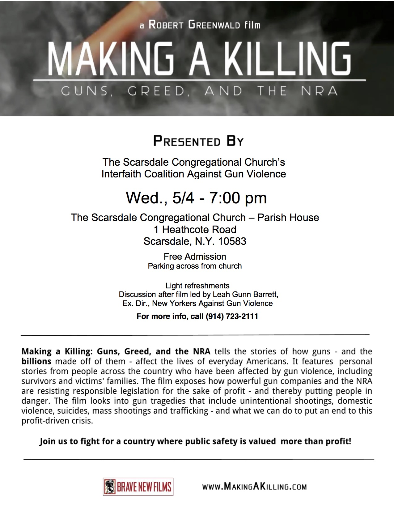 Making a Killing - Flyer