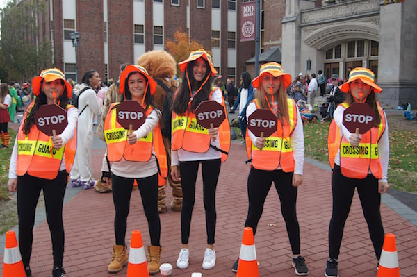66437263 You name it, I saw it frolicking outside Scarsdale High School on Halloween  morning when the SHS Class of 2017 got their chance to dress up in costumes  for ...