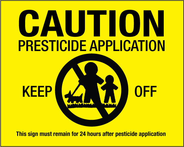 caution pesticide