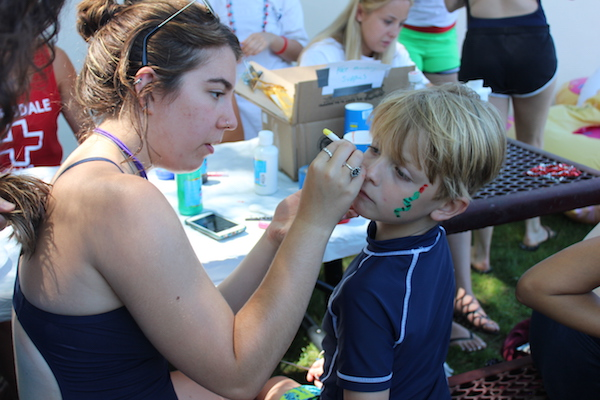 face painting scarsdale pool