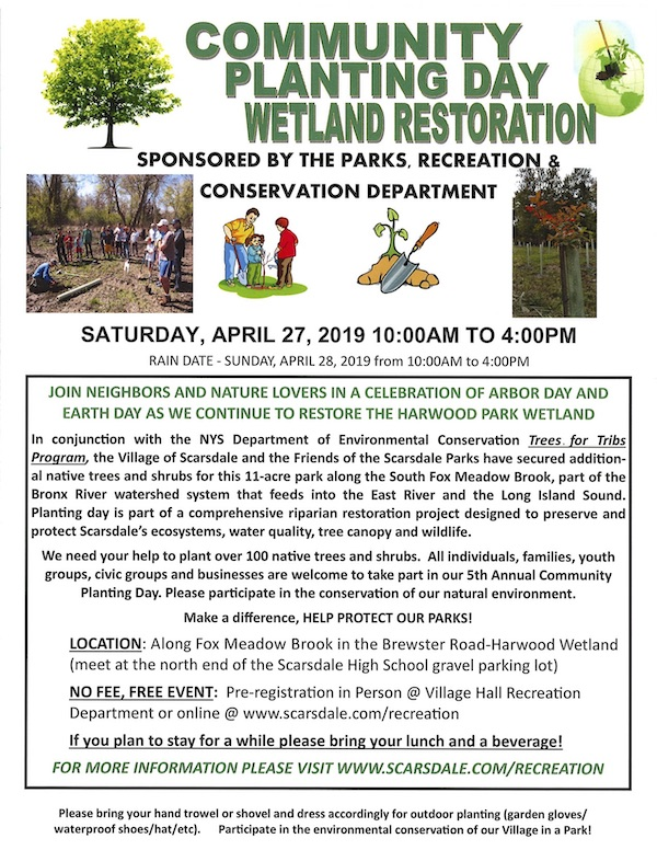 FOSP Scarsdale April 27 2019 Community Planting Day Flyer
