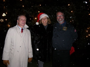 Trustees Lindsay, Hochvert and Volunteer Fireman Michael Keating