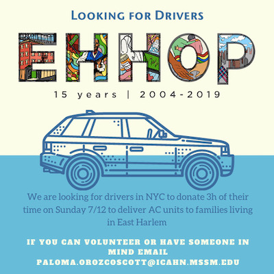 EHHOP Drivers Outreach